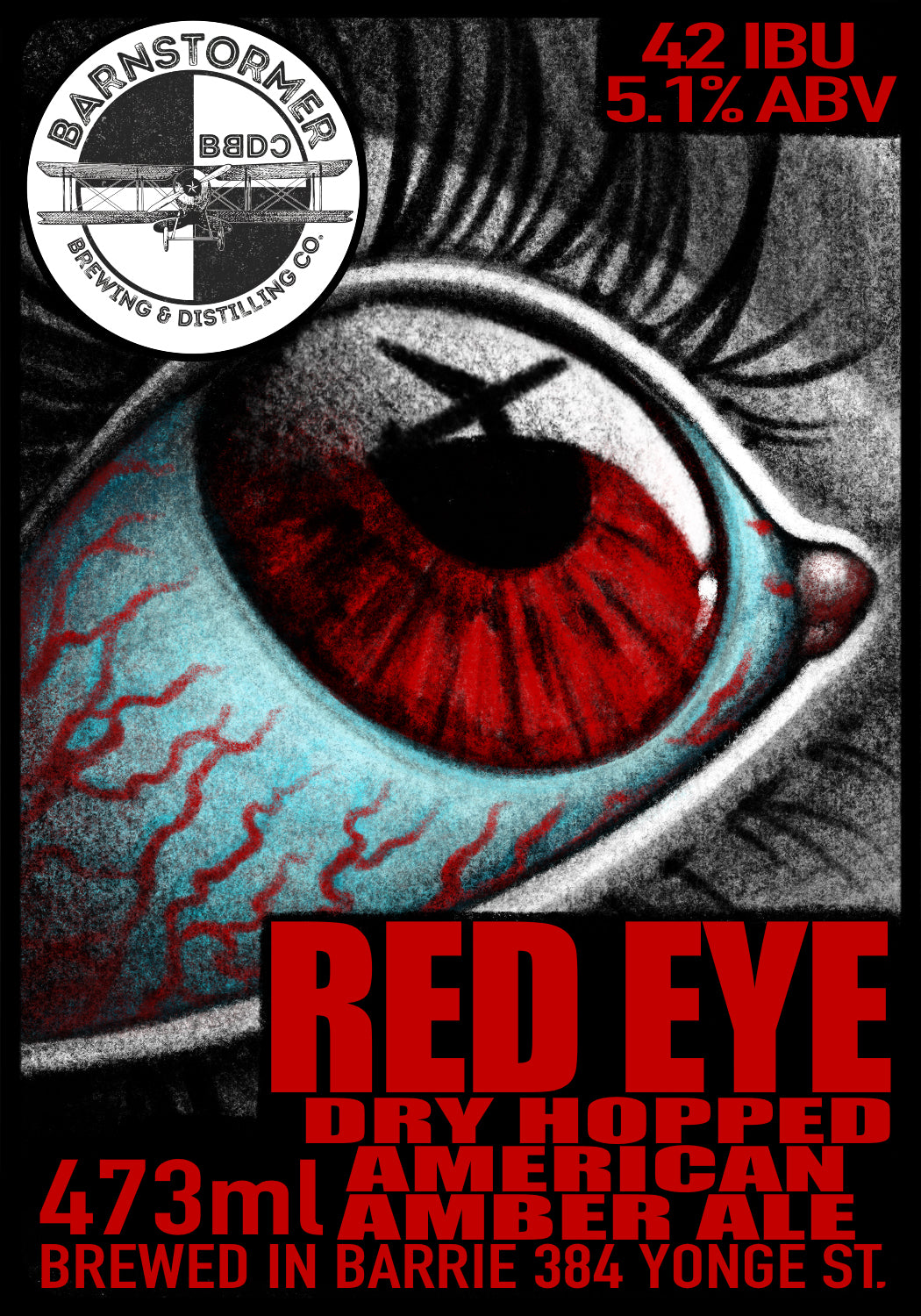 Red Eye Dry Hopped American Amber Ale - 473ml Can