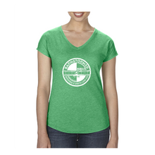 Load image into Gallery viewer, Ladies V-Neck Triblend T-Shirt
