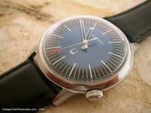 Load image into Gallery viewer, Rare Blue Sunburst Pattern Accutron, Electric, 35mm