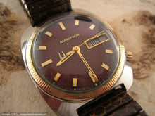 Load image into Gallery viewer, Day-Date Brown Dial Accutron Tonneau, Electric, 35x41mm