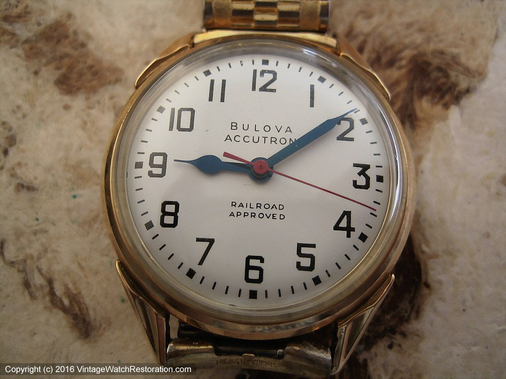 Bulova Accutron Railroad Approved c.1968, Electric, Large 35mm