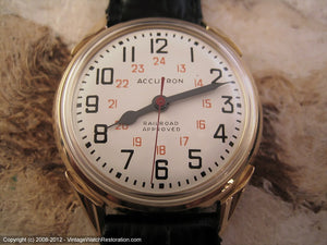 Accutron Railroad Approved 24-Hour Dial, Electric, Large 35mm