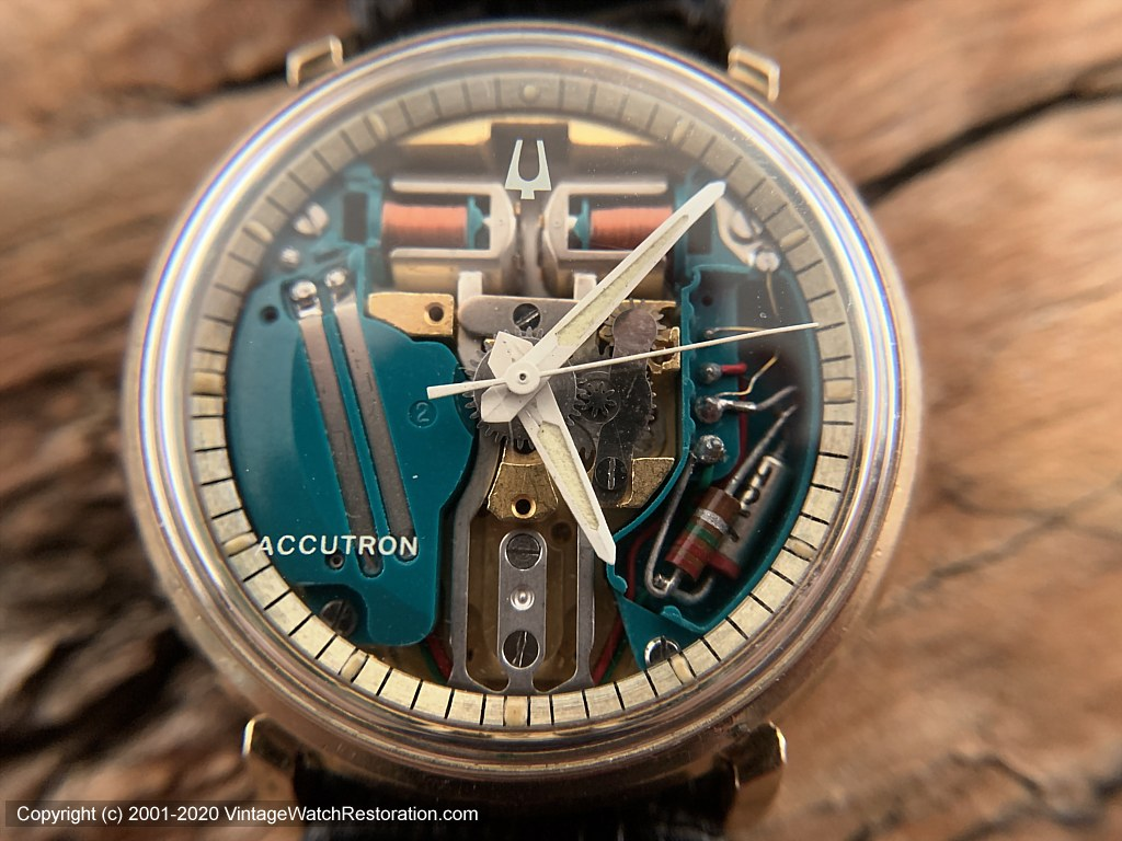 Accutron 'Spaceview' See-Through Dial, 1967, Electronic, 35mm