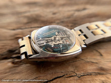 Load image into Gallery viewer, Accutron Spaceview First Year of Issue in Asymmetrical Case with 14K Gold Inlay -- Rare, Electronic, 33.5x40mm