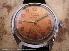 Load image into Gallery viewer, WWII Era Basis with Original Copper Dial, Manual, 31mm