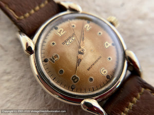 Benrus with Stunningly Warm Orange Patina and Tear-Drop Lug Case, Automatic, 33mm