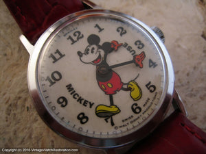 Fabulous Large Bradley Mickey Mouse, Manual, Large 34mm
