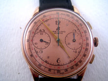 Load image into Gallery viewer, Breitling Venus 175 Salmon Deco Dial, Chronograph, Huge 38mm