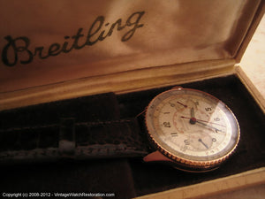 18K Rose Gold Breitling Chronomat 217012 - The Holy Grail, Manual, Huge 36mm
