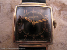 Load image into Gallery viewer, Bulova Black Dial Doctor Style in Square Case, Manual, 25x25mm
