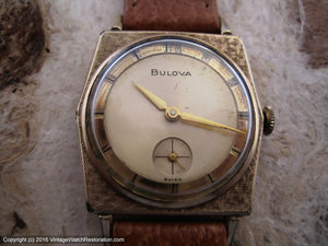 Bulova from Sixties with Original Two Tone Dial and Textured Bezel , Manual, 29x38mm