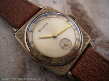 Load image into Gallery viewer, Bulova from Sixties with Original Two Tone Dial and Textured Bezel , Manual, 29x38mm