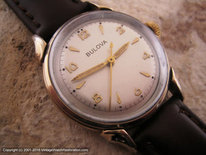 Mid Fifties Bulova with Stellar Dial and Decoratively Turned Lugs (OC1), Manual, 31.5mm