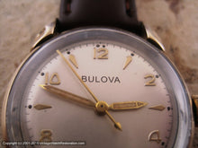 Load image into Gallery viewer, Mid Fifties Bulova with Stellar Dial and Decoratively Turned Lugs (OC1), Manual, 31.5mm