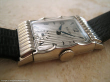 Load image into Gallery viewer, Fifth Avenue Art Deco Bulova Tank Gem, Manual, 21x38mm
