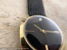 Load image into Gallery viewer, Bulova Black Dial with Diamond Marker at Twelve, Manual, 34x39.5mm