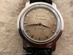 Bulova Mid-Fifties 23 Jewels in Beefy Case and Tropical Dial, Automatic, Large 34mm