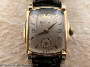 "Bulova in Lovely ""Stepped"" Case, Manual, 26x35.5mm"