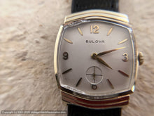 Load image into Gallery viewer, Bulova with Ivory Dial in Chevron Style Case, Manual, 29x34mm