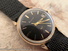 Load image into Gallery viewer, Bulova with Stunning Black Dial and Date, Automatic, 33mm