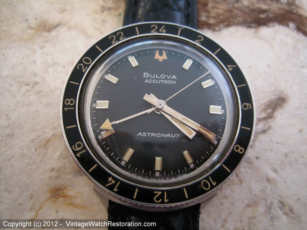 Bulova Accutron Astronaut B Series with Black Dial, Electric, Very Large 38.5mm