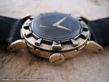 Load image into Gallery viewer, Fifties Era Bulova 'Air King' Black Dial Deco Style, Manual, 30.5mm