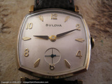Load image into Gallery viewer, Six Sided Bulova with Sunburst Silver Dial, Manual, 28x36mm