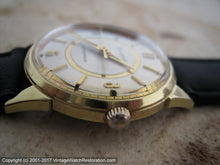 Load image into Gallery viewer, Funky Mid-Sixties Bulova with Golden Circle Dial Design , Manual, 32mm