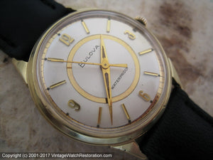 Funky Mid-Sixties Bulova with Golden Circle Dial Design , Manual, 32mm