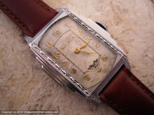 Load image into Gallery viewer, Bulova Rare 'President' Model with Rotary Second Dial in Stepped Case, Manual, 25.5x33mmmm