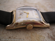 Load image into Gallery viewer, Bulova in Art Nouveau Style Light Gold Case with Presentation Box  , Manual, 25x39mm