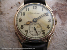 Load image into Gallery viewer, Bulova Early Model in Horned Case with Original Dial, Manual, 29mm