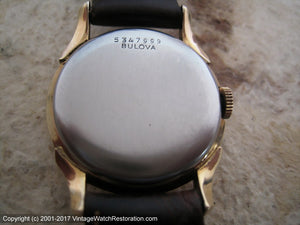 Bulova Early Model in Horned Case with Original Dial, Manual, 29mm
