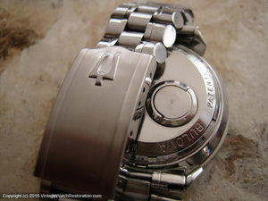 Bulova Accutron Astronaut and Original Signed Bracelet, Electric, Huge 38mm