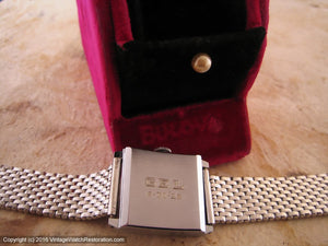 Bulova 'Revere' Depression Era Beauty with Original Box and Bracelet, Manual, 27x33mm