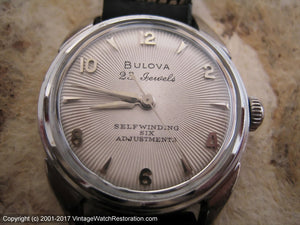 All Original Bulova 23 Jewel Sunburst Dial with Original Case and Tags, Automatic, 31mm