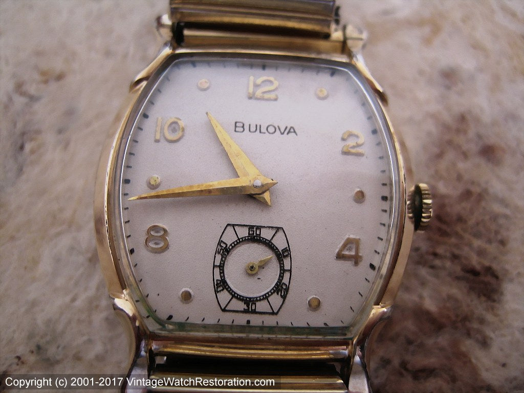 Bulova in Attractive Deco-Style Case, Manual, 28x38mm