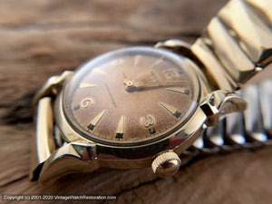 Benrus Perfect Coppery Aged Dial, Turned Lugs, Manual, 32.5mm