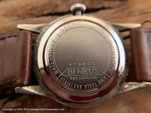 Benrus Original Coppery-Brown Dial, 3-Star, Automatic, 34mm