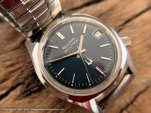 Bulova Accutron Blue Dial with Date, Electric, 34mm