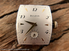 Load image into Gallery viewer, Bulova Large Decorative Tonneau Case and Scripty Numerals and Shark Strap , Manual, 25.5x39mm