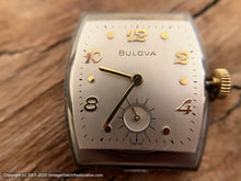 Load image into Gallery viewer, Bulova Tonneau Case with Quadrant Glass Crystal, Manual, 26.5x37.5mm