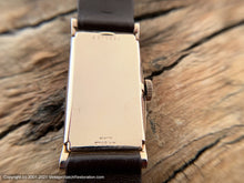 Load image into Gallery viewer, Bulova Copper Dial in a 14K Rose-Gold Rectangular Case, Manual, 21.5x39mm