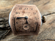 Load image into Gallery viewer, Bulova Tonneau Case Copper Patina Dial, Manual, 26x38mm