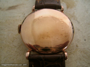Early Certina Pink Gold Tear Drop Case, Manual, 33mm