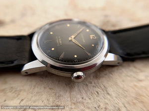 Certina with Military Style Black Dial 21 Rubis, Automatic, 33mm