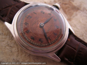 Crawford Military Style with Original Coppery-Rust Dial Color, Manual, 29.5mm