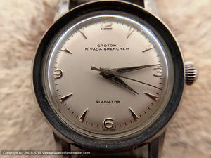 Croton Nivada Grenchen Lovely Minty 'Gladiator', Manual, 32mm