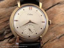 Load image into Gallery viewer, Certina Pearl Light Patina Dial in Rare Pin Cushion Bezel Case with Original Certina Box, Manual, 37mm