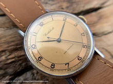 Load image into Gallery viewer, Cortebert from 1940s with Stellar Rust-Coppery Two-Tone Dial, Manual, Large 35mm